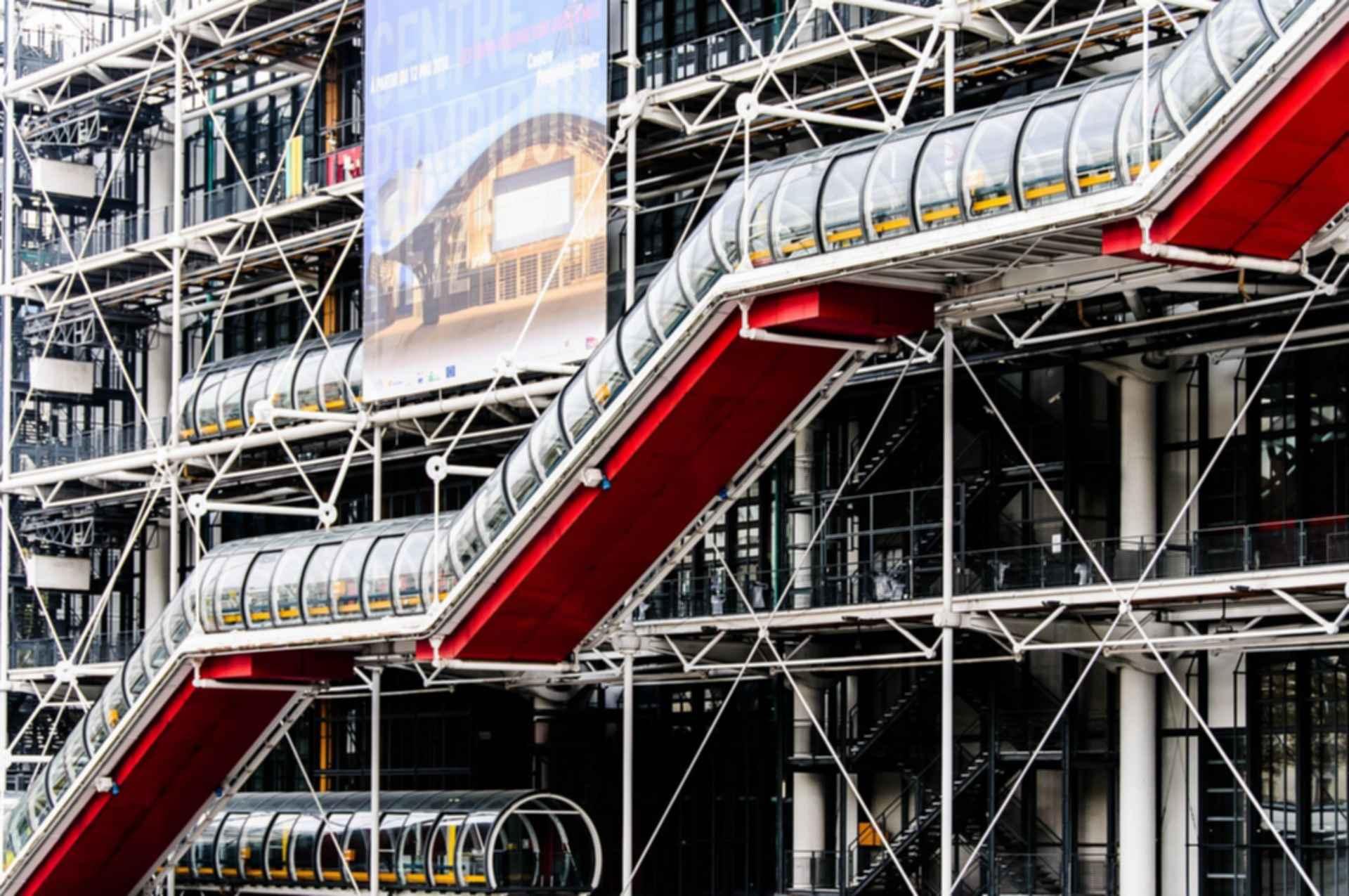 Pompidou Centre - Escalators
