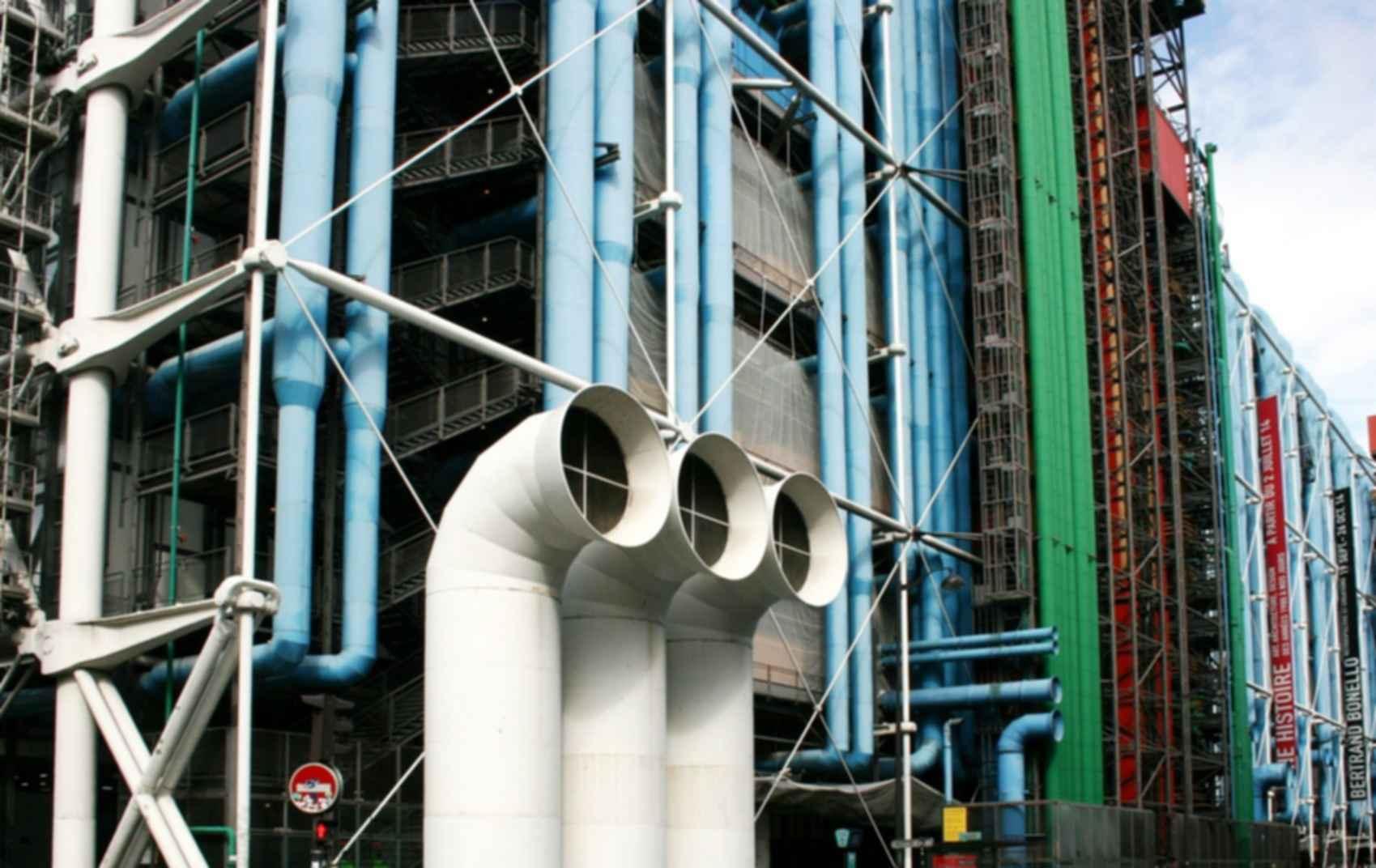 Pompidou Centre - Exterior