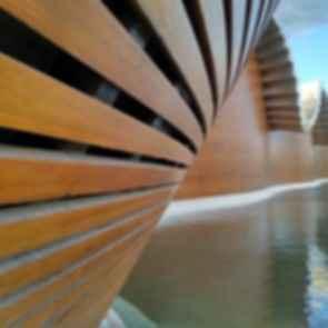 Bodegas Ysios Winery - Facade Detail
