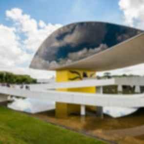 Oscar Niemeyer Museum Annex - Front Exterior