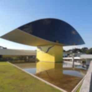 Oscar Niemeyer Museum Annex - Rear Exterior