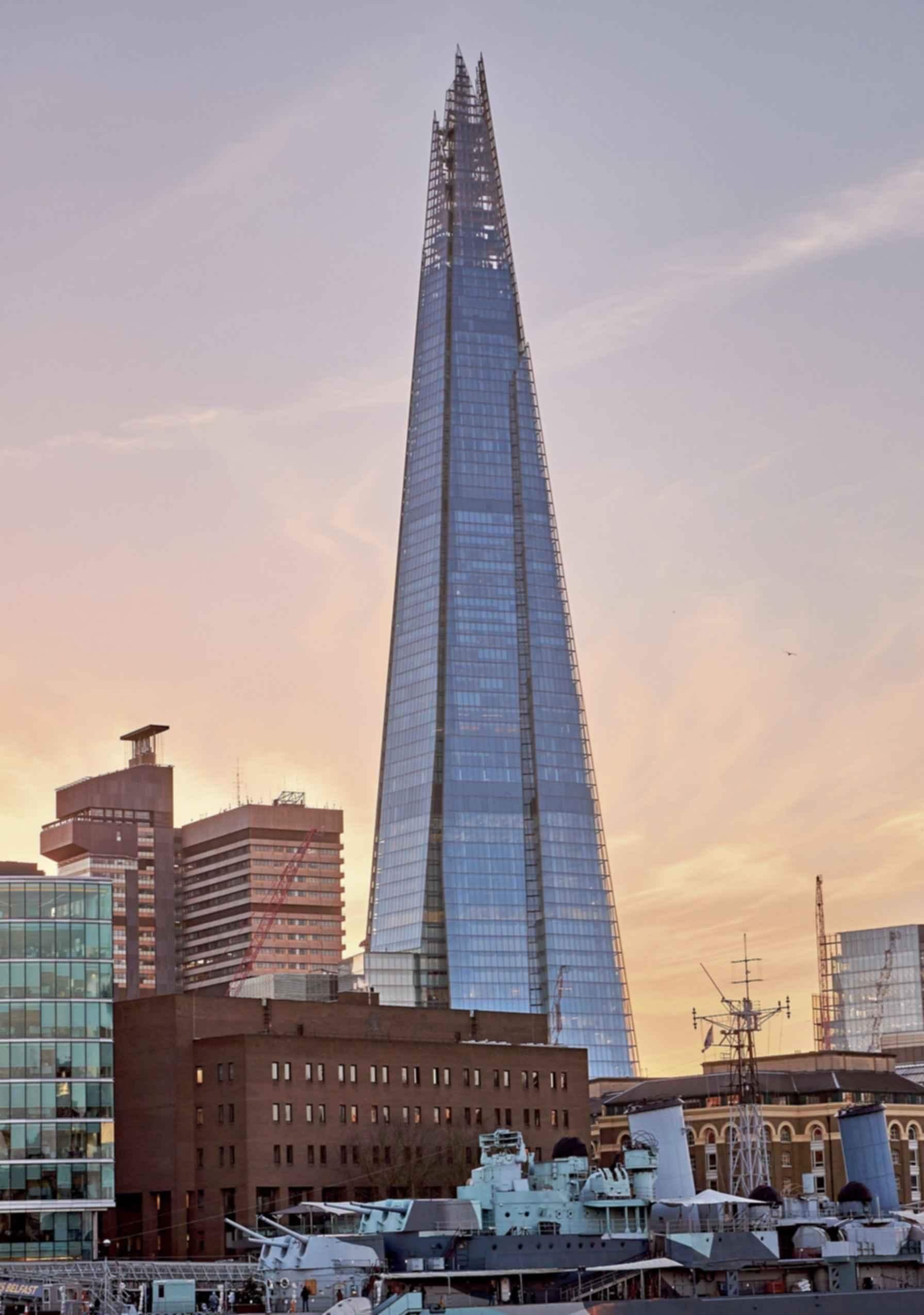 The Shard - Exterior at Sunset