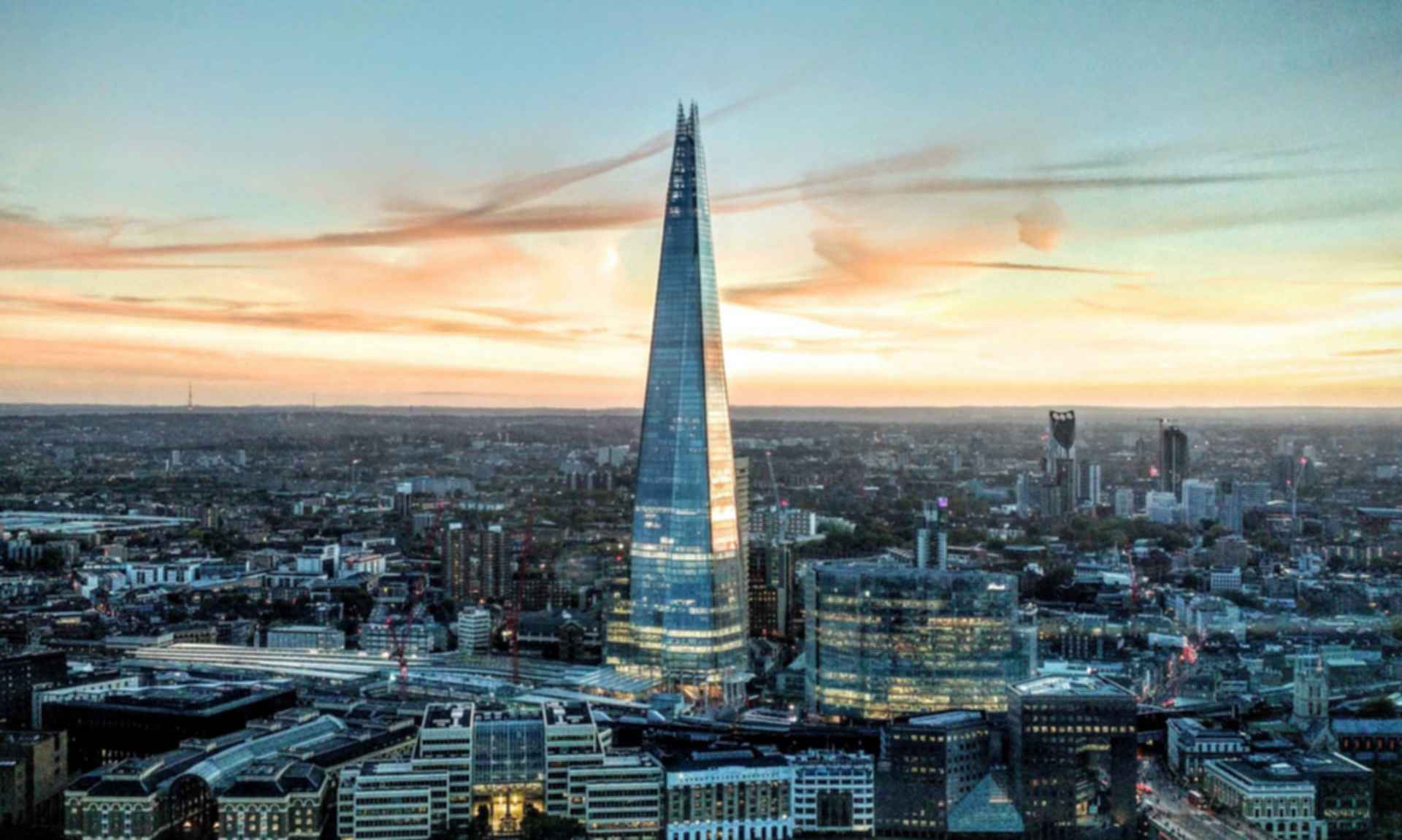 The Shard - Exterior at Dusk