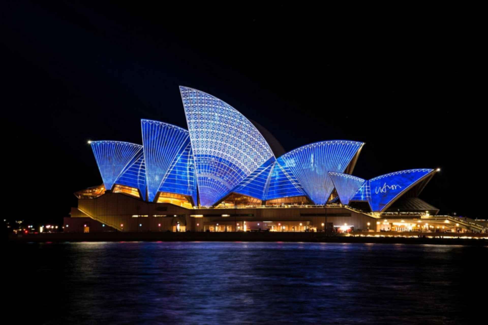 Sydney Opera House - Roof Lit Up