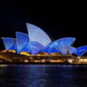 Sydney Opera House - Roof Lit Up