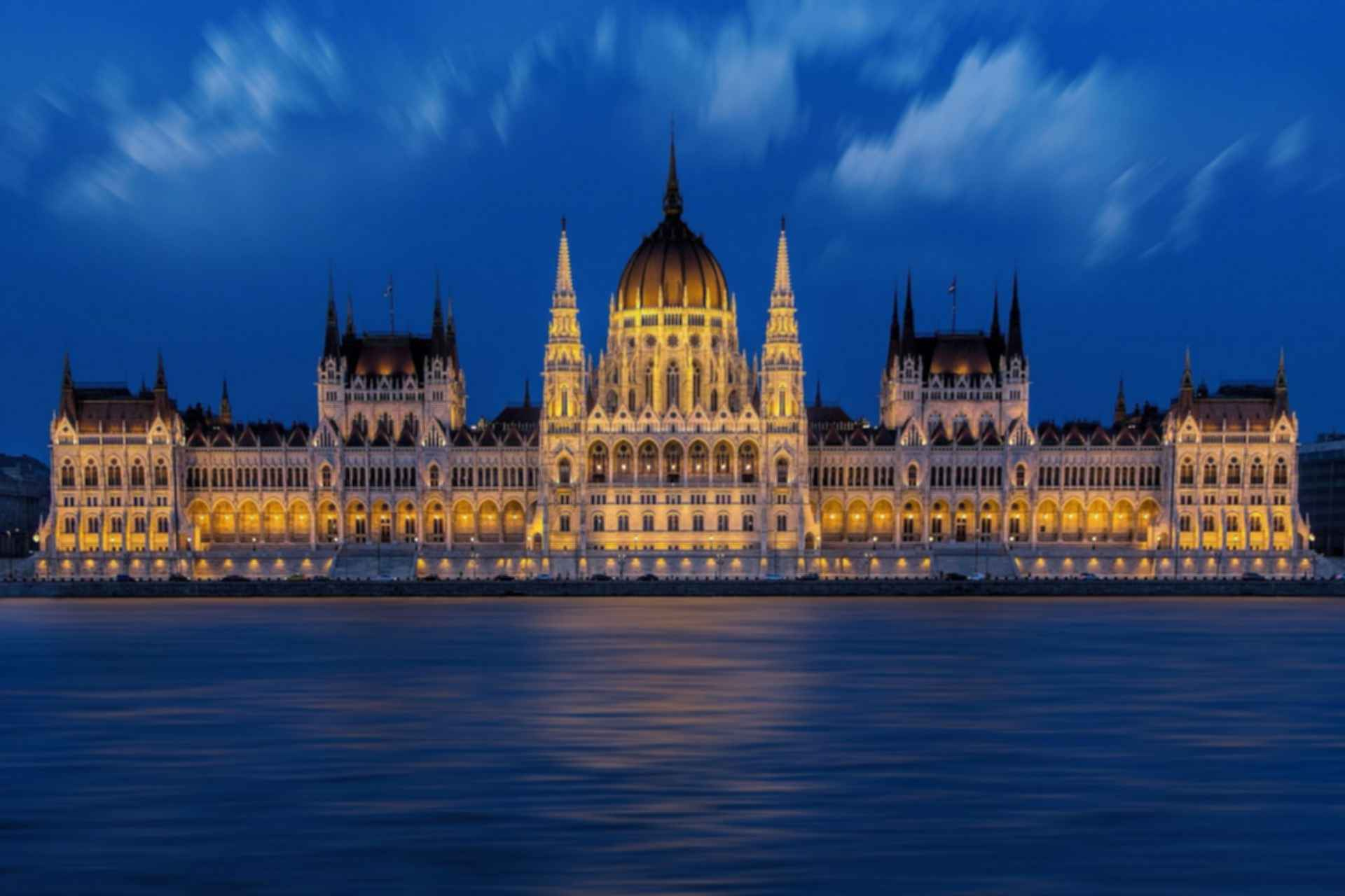 Hungarian Parliament Building - At Night