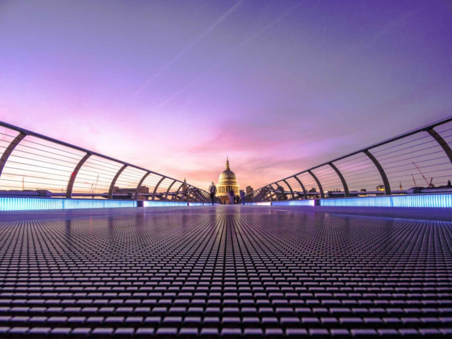London Millennium Footbridge - Looking to St Paul's Cathedral