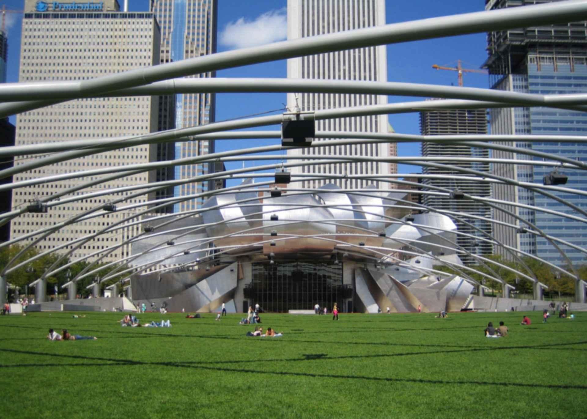 Jay Pritzker Pavilion - View From Park
