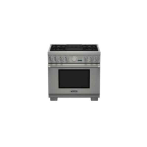"Thermador 36"" Pro Grand DF 4 Burner w/ Elec. Grill  PRD364NLGU"