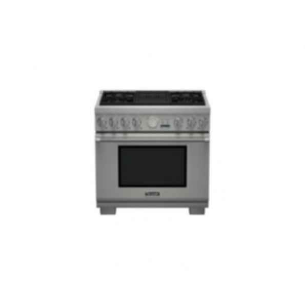 "Thermador 36"" Pro Grand Gas 4 Burner w/ Elec. Grill PRL364NLG"