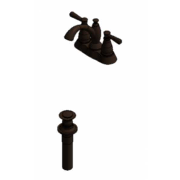 Two Handle Centerset Lavatory Faucet - Metal Pop-Up with new handles - Venetian Bronze