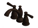 Two Handle Widespread Lavatory - Metal Pop-Up with new handles - Venetian Bronze