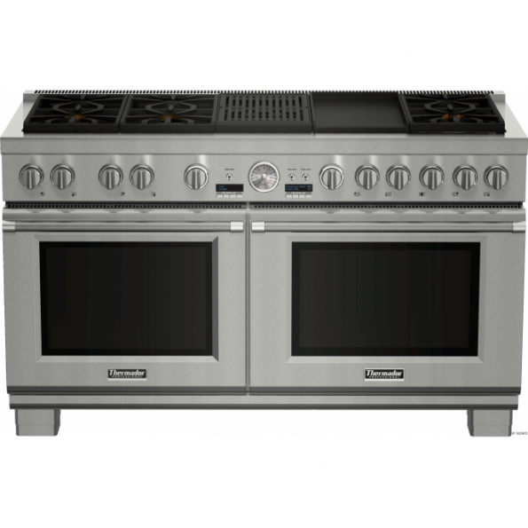 PRD606RCG 60 inch Dual fuel pro grand Range with grill and griddle