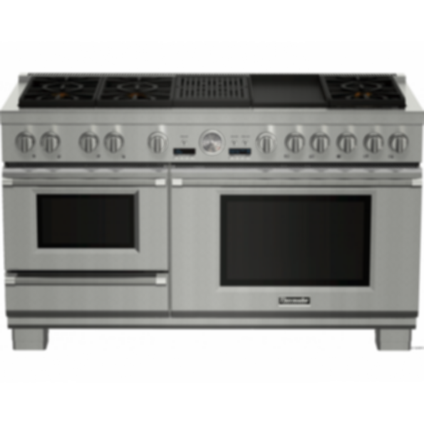 PRD606RCSG 60 inch Dual fuel pro grand Range with steam grill and griddle