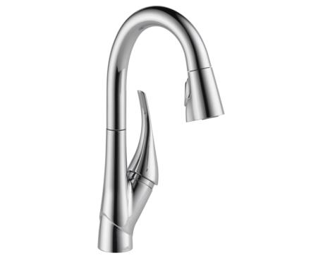 Single Handle Pull-down Bar/Prep Faucet/Chrome