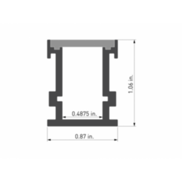 Duro 1 Light Channel Fixture (In Ground)