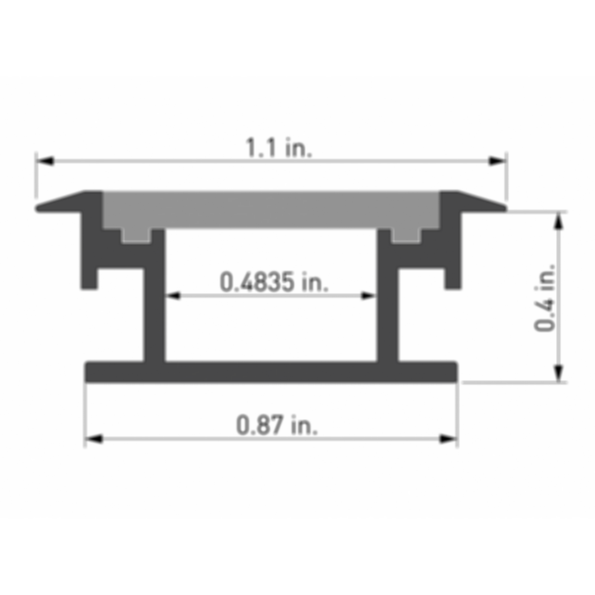Duro 2 Light Channel Fixture (In Ground)