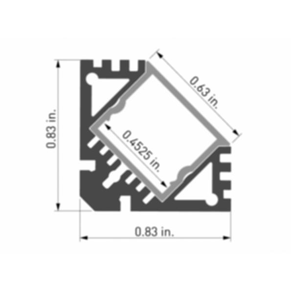 Surfa® 4 LED Light Channel Fixture