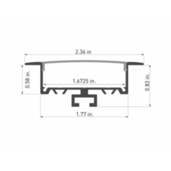 Ankr® 1 LED In-Wall Channel Fixture