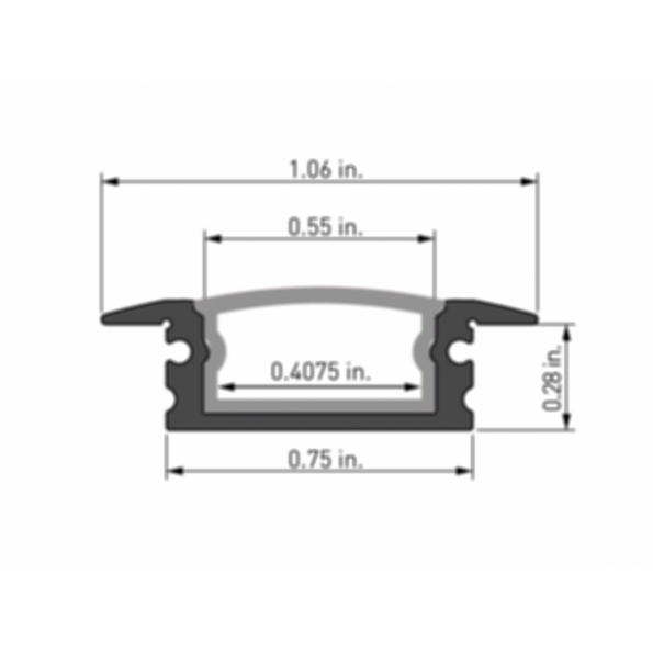 Naro® 1 Recessed LED Light Channel