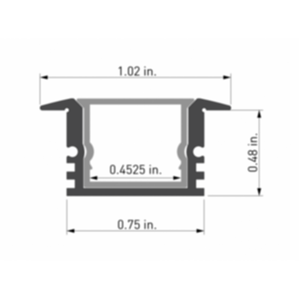 Naro® 2 Recessed LED Lighting Channel
