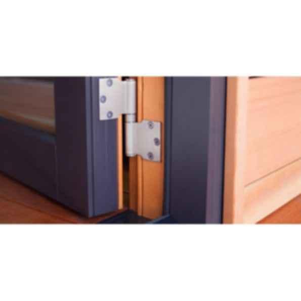 Aluminum Wood Single/Double Swing Door