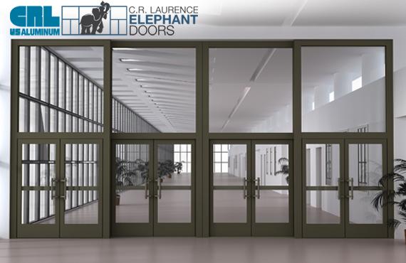 Elephant door operable storefront system series e1200 for Aluminum storefront windows