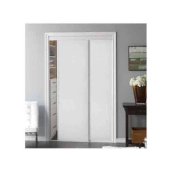 Sliding Bypass Door with White Panel Insert - Model 100