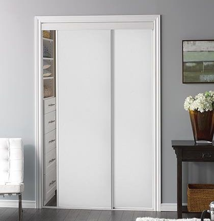 Sliding Bypass Door With White Panel Insert Model 100
