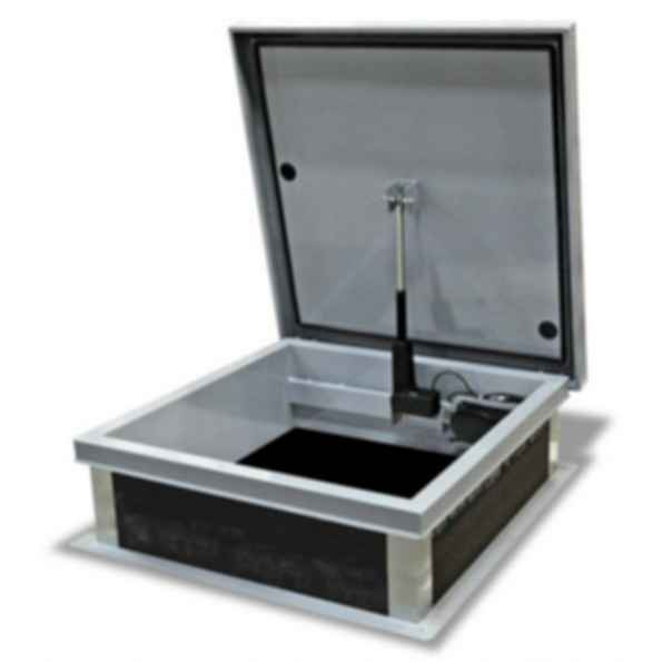 Electric Actuation Roof Hatch - Galvanized