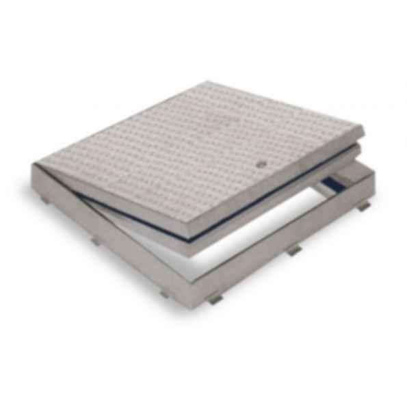 Fire Rated Floor Doors - Flush Diamond Plate