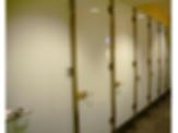 Frameless Glass Restroom Partition System