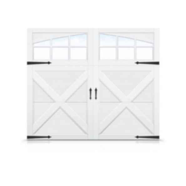Carriage House Steel Garage Doors with Overlays- Echo Ridge XL Series
