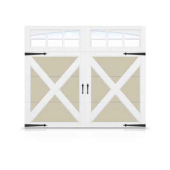 Steel Garage Door with Composite Overlay- Echo Ridge
