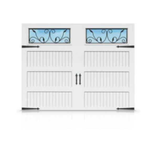 Family Safe Carriage House Steel Garage Door with Extra Large Windows- Grandview Series