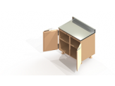 Preparation Enclosure Base Cabinet - Model MS-PEBC