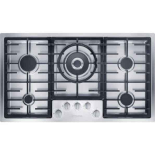 "KM 2355LP Knob Control 36"" Flush-mounted gas cooktop - 5 burners - linear grates"