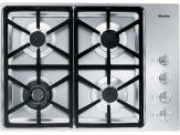 "KM 3464G Knob control 30"" gas cooktop - 4 burners - SS, Hexa grates"