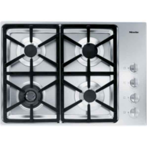 """KM 3464LP Knob control 30"""" gas cooktop - 4 burners - SS, Hexa grates"""