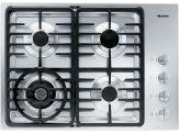 "KM 3465G Knob control 30"" gas cooktop - 4 burners - SS, linear grates"