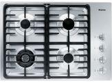 "KM 3465LP Knob control 30"" gas cooktop - 4 burners - SS, linear grates"
