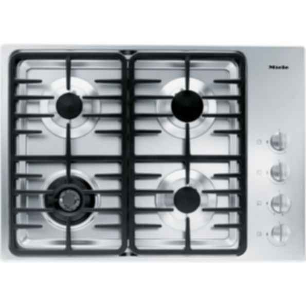 "KM 3465LP Knob control 30"" gas cooktop - 4 burners - SS, linear grates"