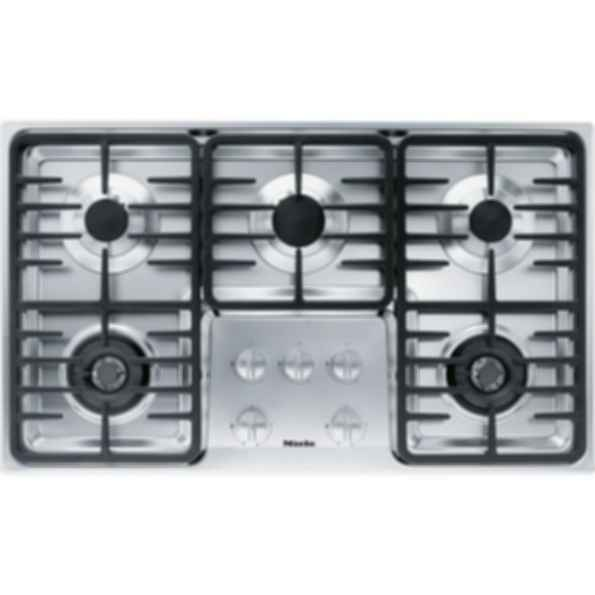 "KM 3475G Knob control 36"" gas cooktop - 5 burners - linear grates"