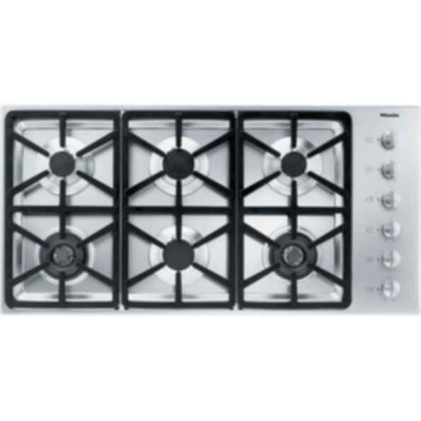 "KM 3484G Knob control 42"" gas cooktop - 6 burners - SS, Hexa grates"