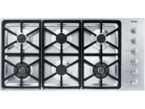 """KM 3484LP Knob control 42"""" gas cooktop - 6 burners - SS, Hexa grates"""