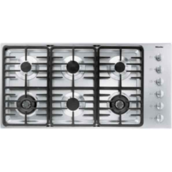 "KM 3485G Knob control 42"" gas cooktop - 6 burners - linear grates"