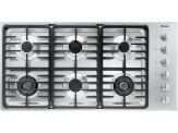 "KM 3485LP Knob control 42"" gas cooktop - 6 burners - linear grates"