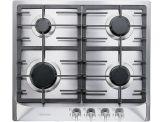 "KM 360LP Knob control 24""/60cm* gas cooktop - 4 burners - SS"