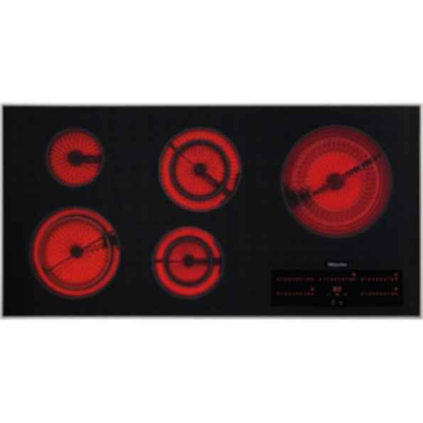 "KM 5880 Touch control 42"" 3D glass cooktop - 5 zones - 208 V"