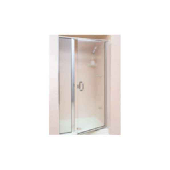 Frameless Hinged Door Amp Panel Ch 1627 Silver Anodized